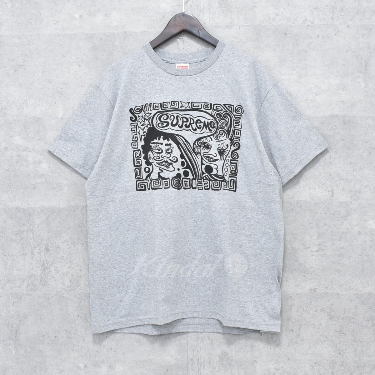 【中古】SUPREME 18AW Faces Tee プリントTシャツ グレー サイズ:M 【送料無料】 【251018】(シュプリーム)
