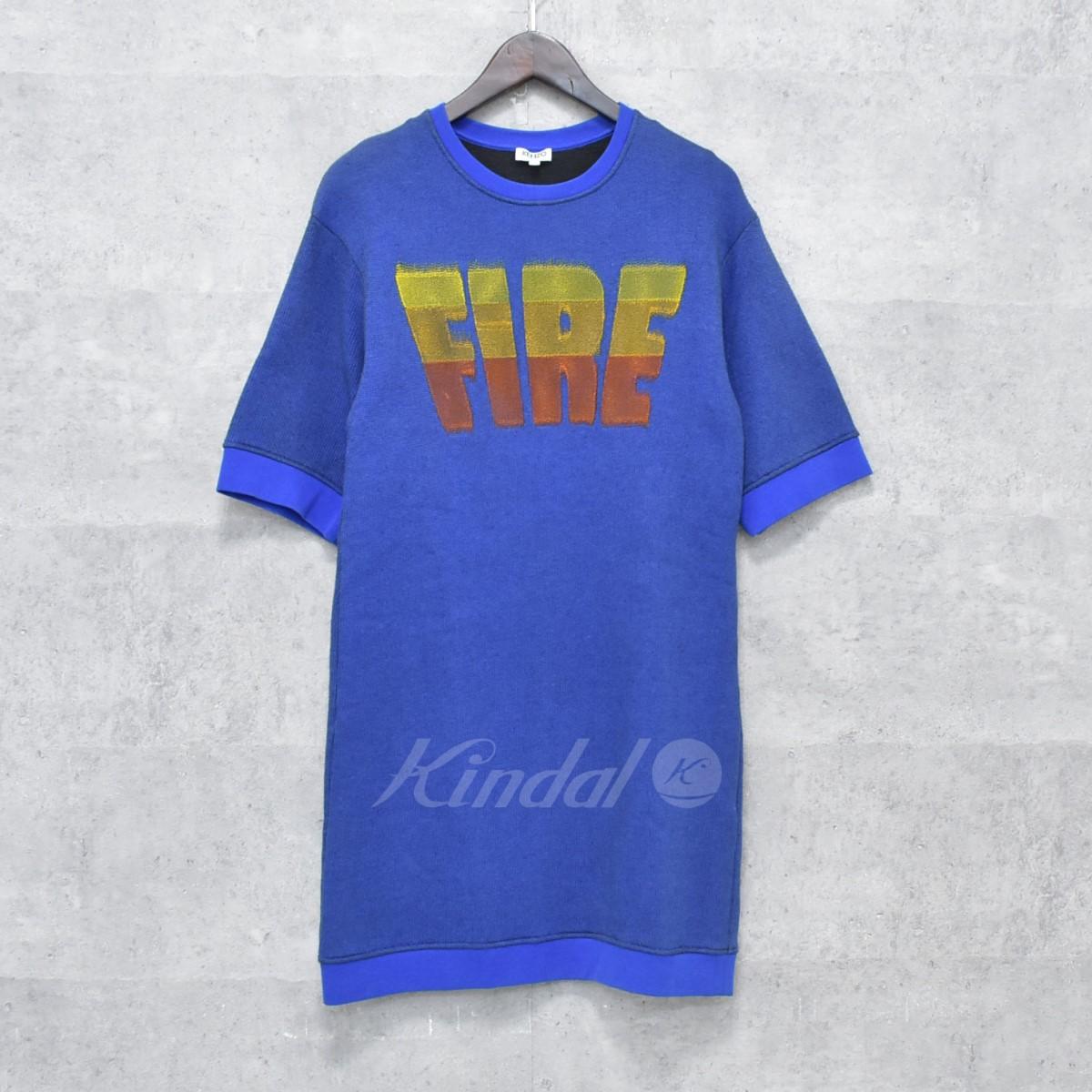 【中古】KENZO FIRE Dress 半袖スウェット ワンピース ブルー サイズ:S 【送料無料】 【251018】(ケンゾー)