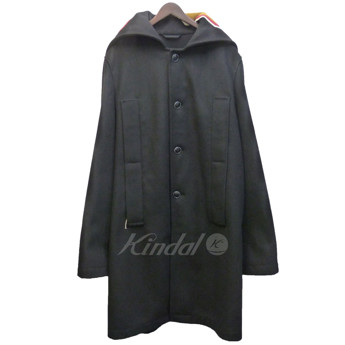 【中古】RAF SIMONS 16AW 「Big coat with destroyed graphic backflap」 【送料無料】 【026669】 【KIND1550】