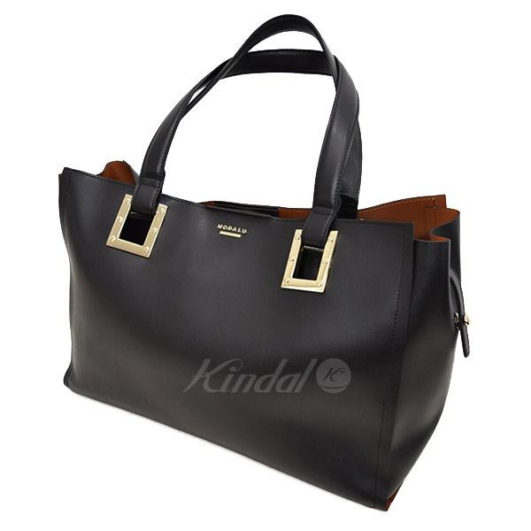 【中古】MODALU ENGLAND レザートートバッグ ブラック サイズ:- 【送料無料】 【241018】(モダルーイングランド)