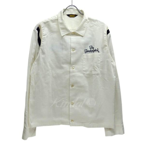 【中古】TENDERLOIN ロゴ刺繍 ボーリングシャツ 【送料無料】 【002146】 【KIND1550】