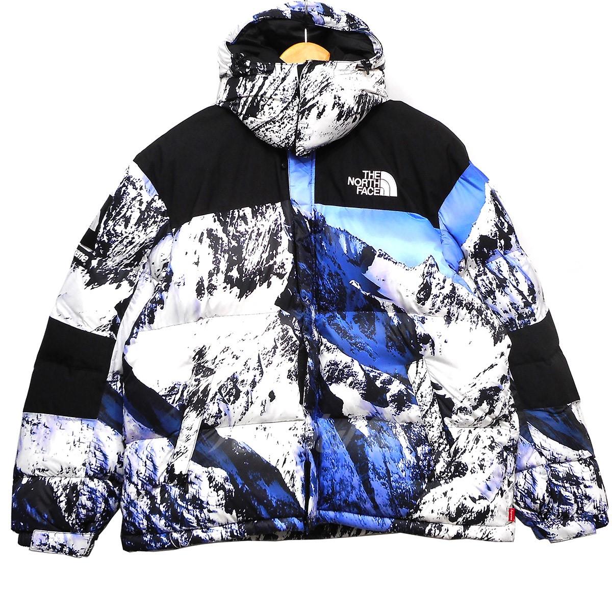 【中古】Supreme × THE NORTH FACE 17AW Mountain Print Baltoro Jacket バルトロダウンジャケット マウンテンプリント サイズ:M 【送料無料】 【241018】(シュプリーム ザノースフェイス)