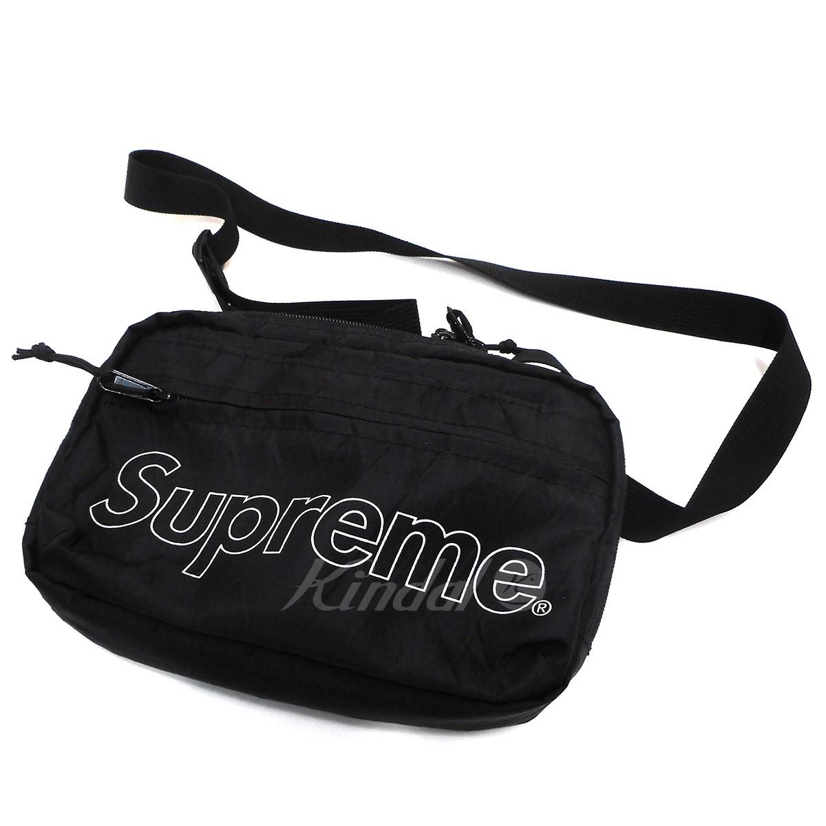 【中古】SUPREME 18AW Shoulder Bag ショルダーバッグ ブラック 【送料無料】 【241018】(シュプリーム)