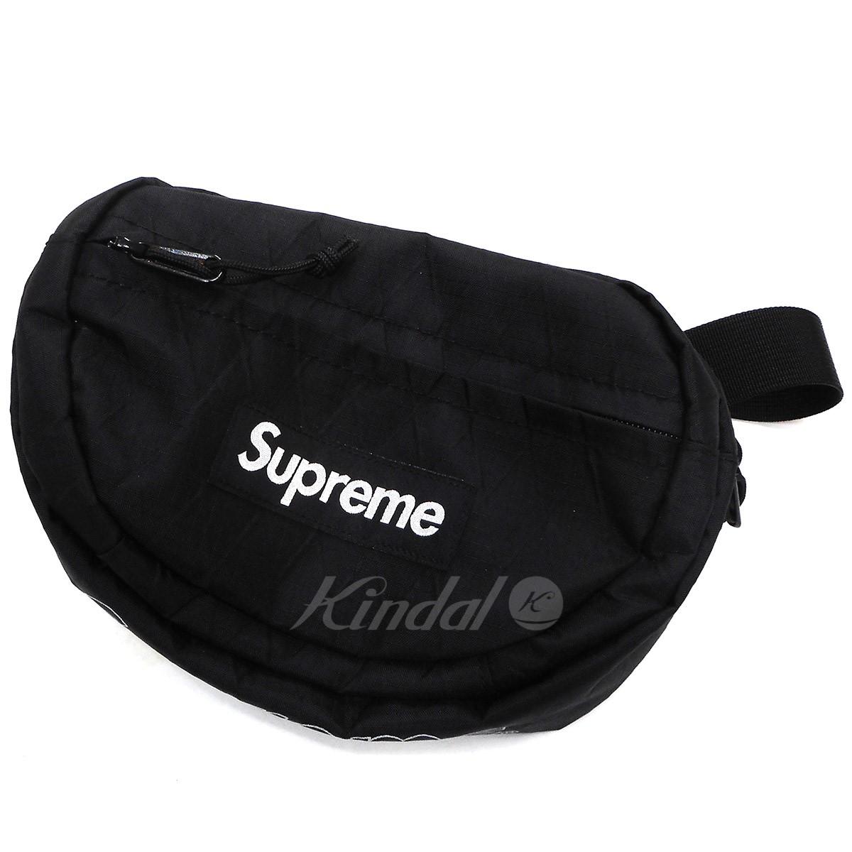 【中古】SUPREME 18AW Waist Bag ウエストバッグ ブラック 【送料無料】 【241018】(シュプリーム)