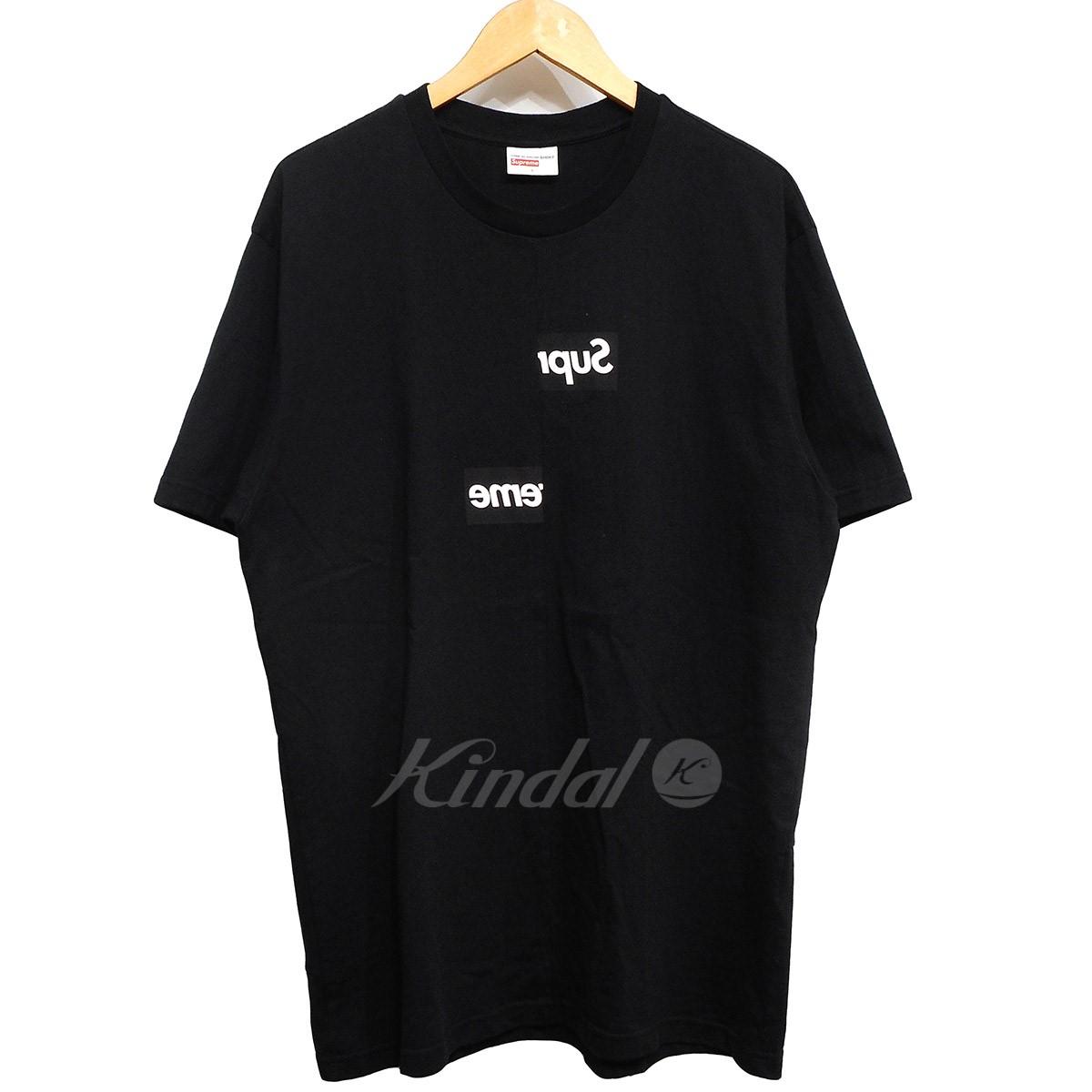 【中古】Supreme × COMME des GARCONS SHIRT 18AW Split Box Logo Tee ボックスロゴTシャツ 【送料無料】 【002709】 【KIND1550】