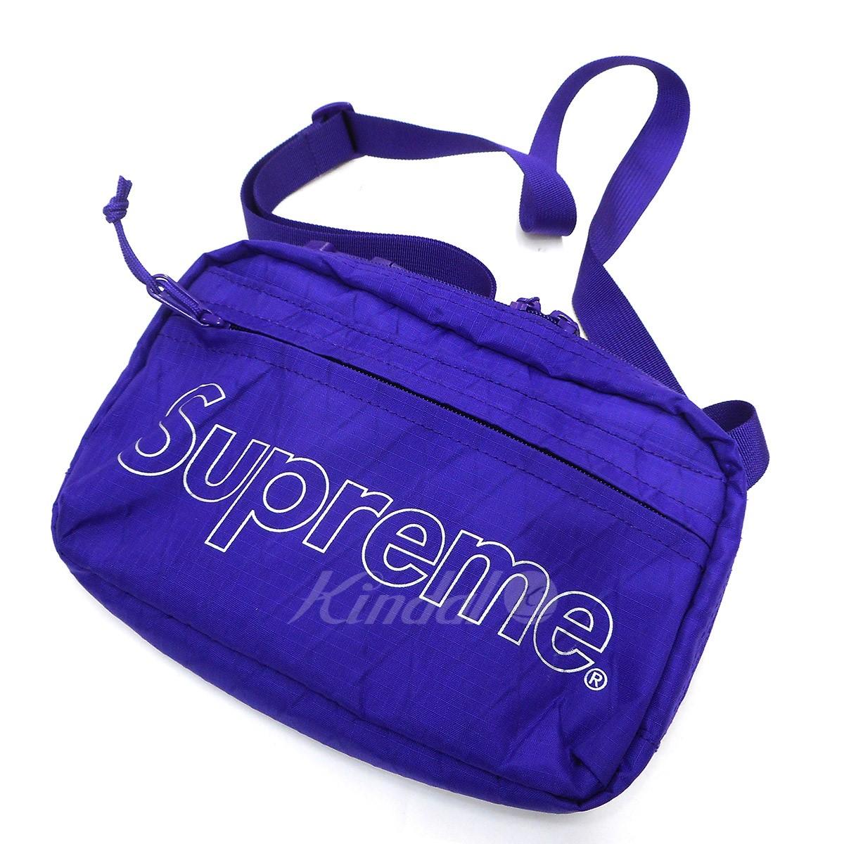 【中古】SUPREME 18AW Shoulder Bag ショルダーバッグ パープル 【送料無料】 【241018】(シュプリーム)