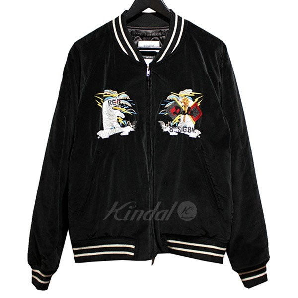 【中古】doublet × LOVELESS CHAOS EMBROIDERY SOUVENIR JACKET 刺繍 スーベニアジャケット ブラック サイズ:M 【送料無料】 【241018】(ダブレット ラブレス)