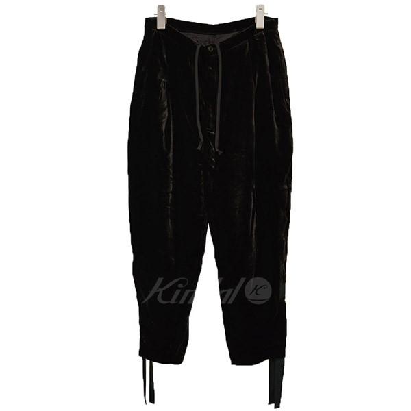 【4月1日 お値段見直しました】【中古】TOGA PULLAベロア イージーパンツ パンツ ブラック サイズ:34