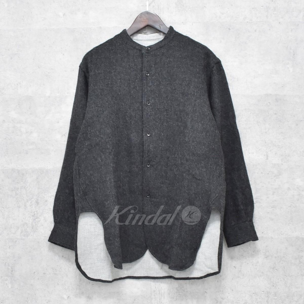 【中古】THE INOUE BROTHERS 17AW アルパカ混 スタンドカラーシャツ グレー サイズ:1 【送料無料】 【261018】(ザ イノウエブラザーズ)