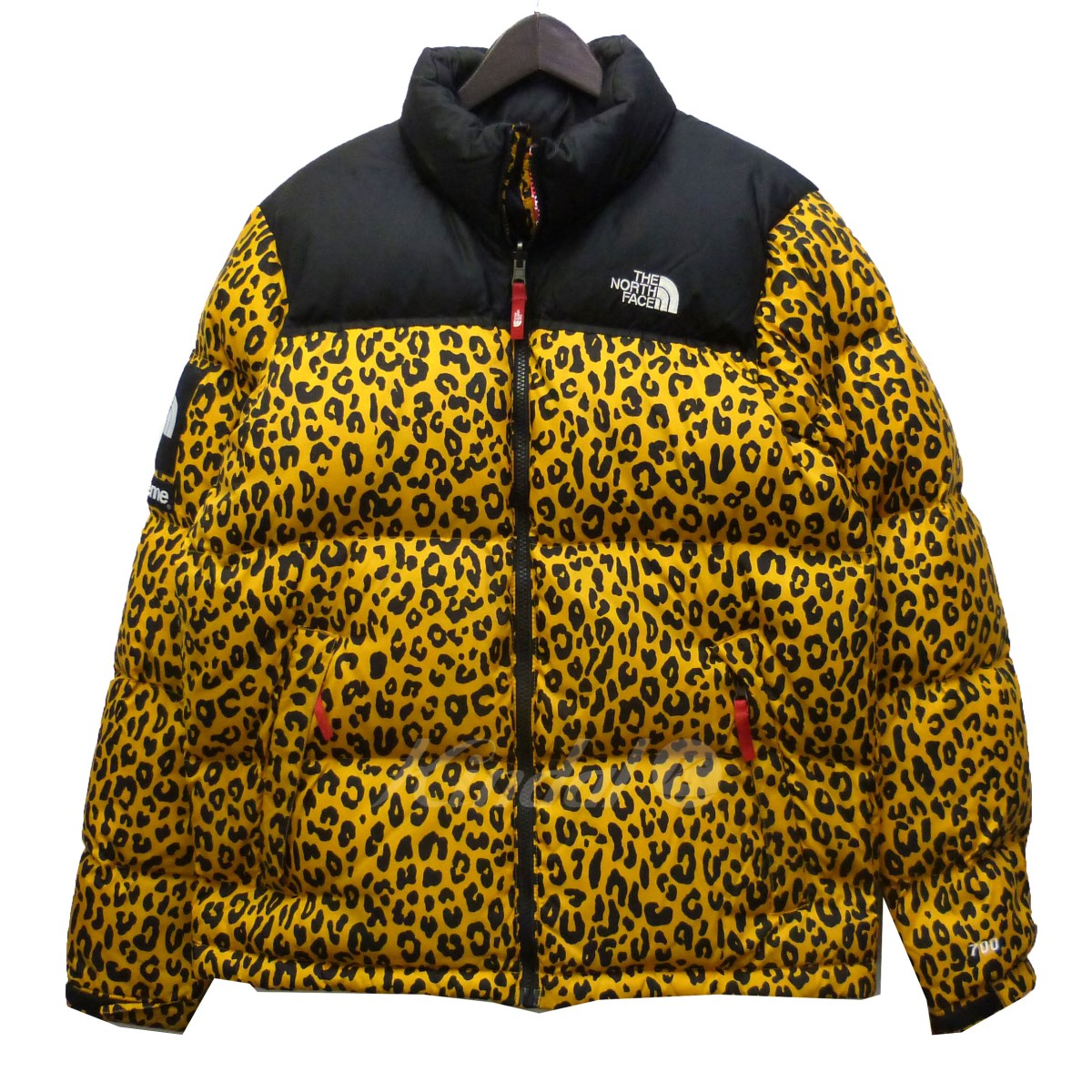 【中古】Supreme x THE NORTH FACE 11AW「Nuptse Down Jacket」レオパードダウンジャケット 【送料無料】 【026096】 【KIND1550】