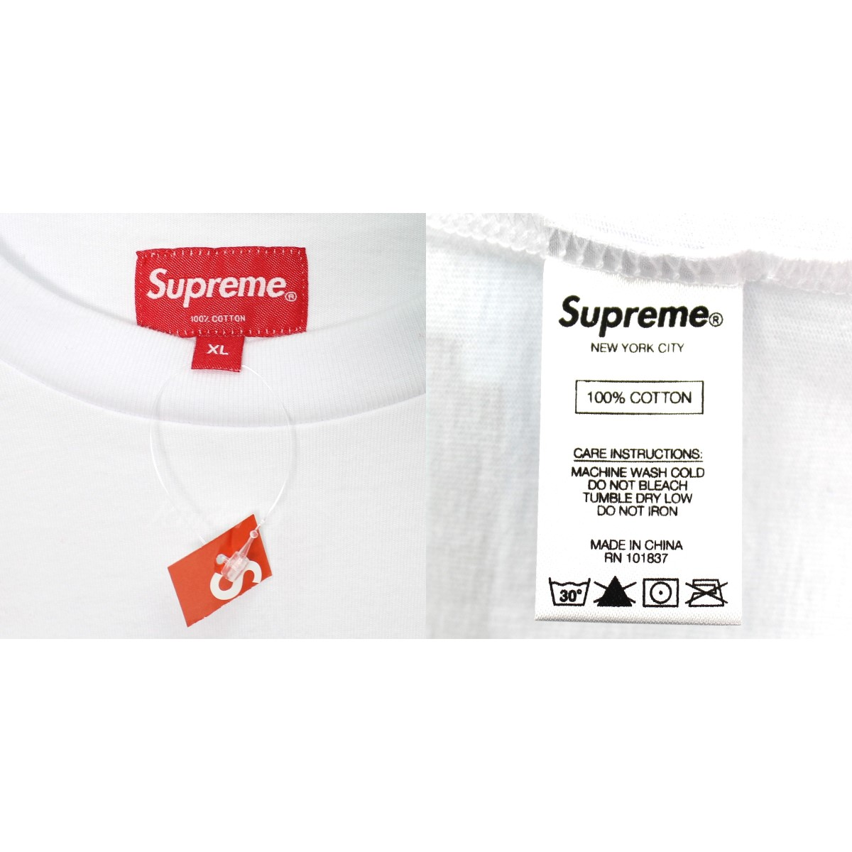 9cc5b5657ade ... SUPREME 18AW Stagger Tee big logo T-shirt white size: XL (シュプリーム) ...