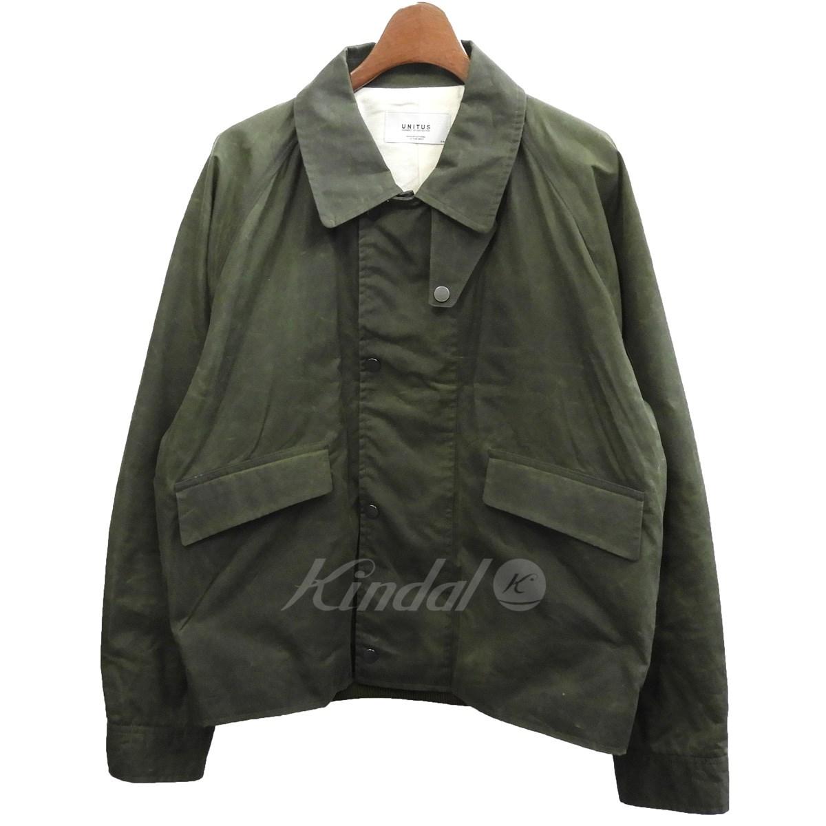 【中古】UNITUS オイルドジャケット カーキ サイズ:3 【送料無料】 【281018】(ユナイタス)