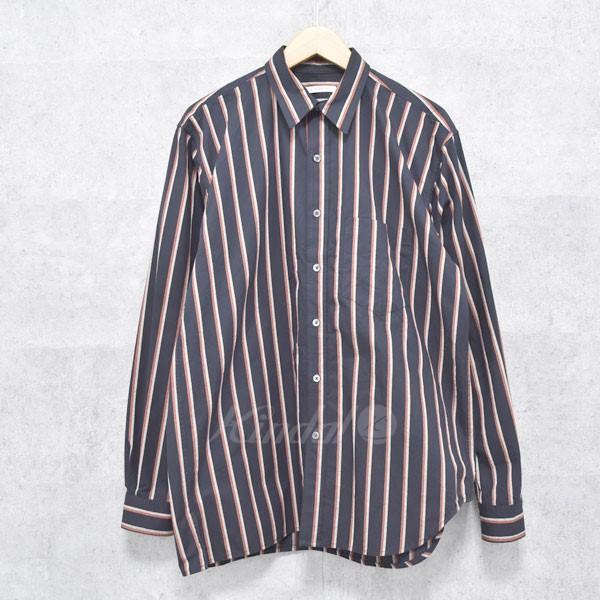 【中古】s.k. manor hill 18SS Egon Shirt  ストライプシャツ ネイビー他 サイズ:S 【送料無料】 【281018】(エスケーマノアヒル)