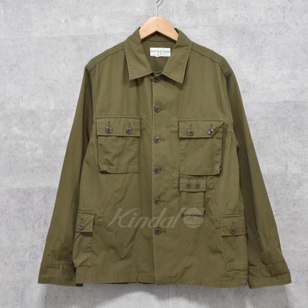 【中古】SASSAFRAS G.D.U Jacket ミリタリージャケット オリーブ サイズ:S 【送料無料】 【281018】(ササフラス)