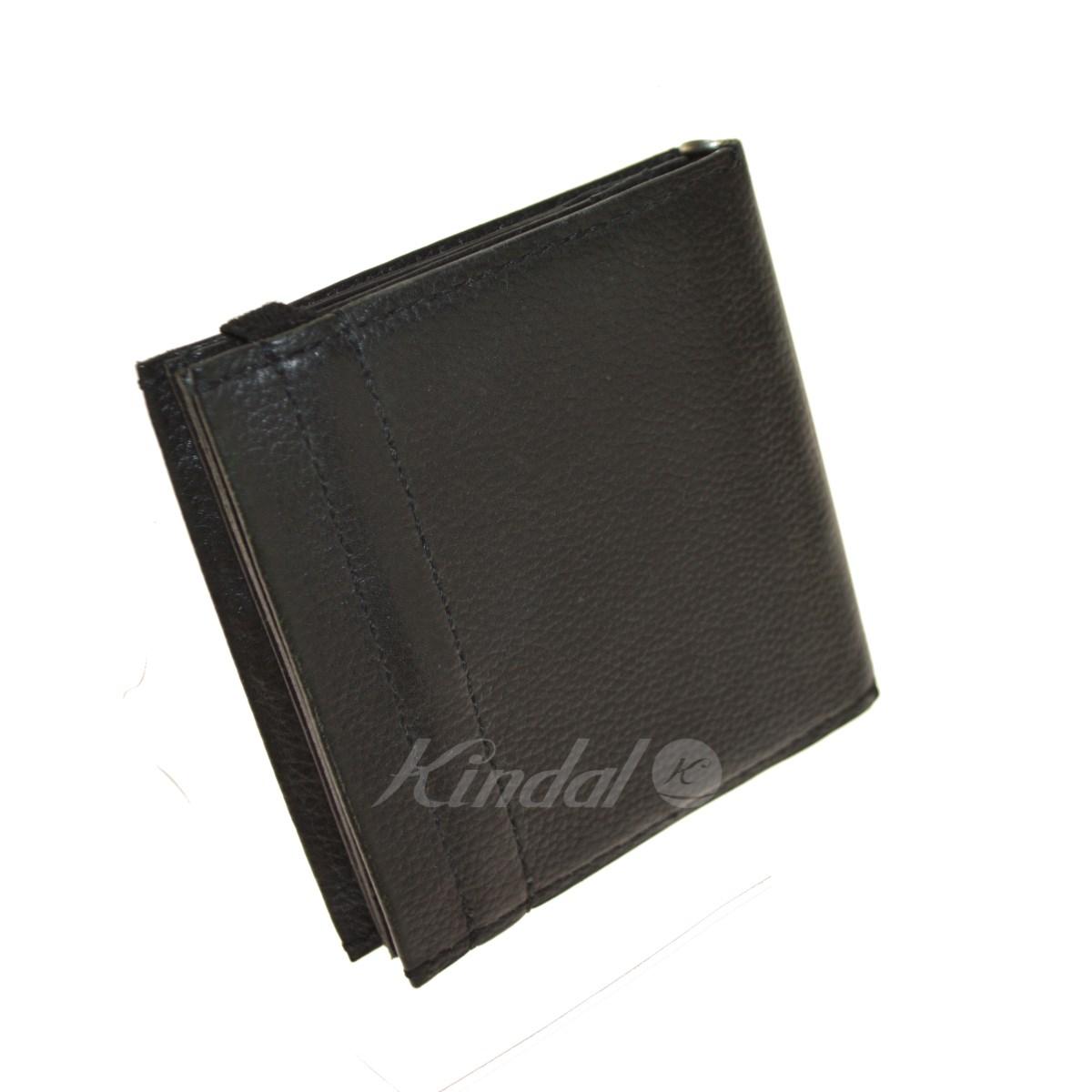 【中古】ED ROBERT JUDSON BUND HALF WALLET レザー二つ折り財布 ブラック 【送料無料】 【281018】(エドロバートジャドソン)