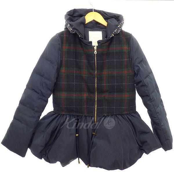 【中古】Chesty ビジュー装飾2WAYダウンジャケット ネイビー サイズ:1 【送料無料】 【271018】(チェスティー)
