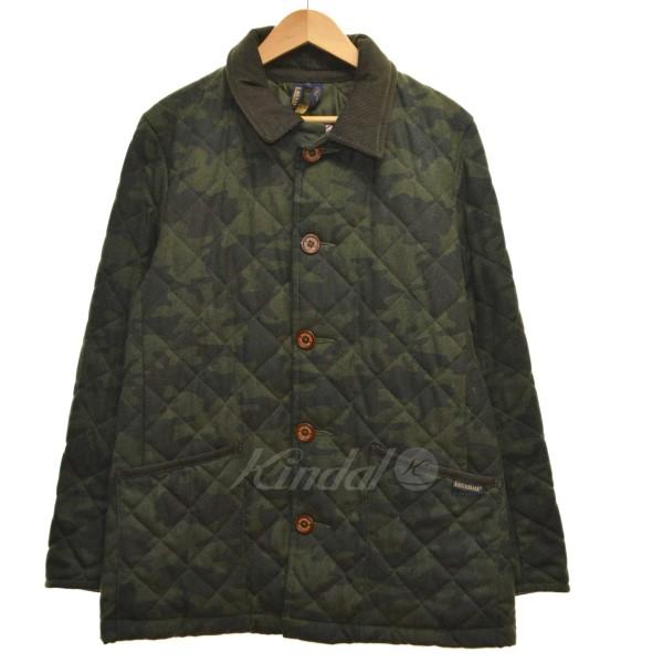 【中古】LAVENHAM カモフラージュキルティングジャケット 【送料無料】 【001364】 【KIND1550】