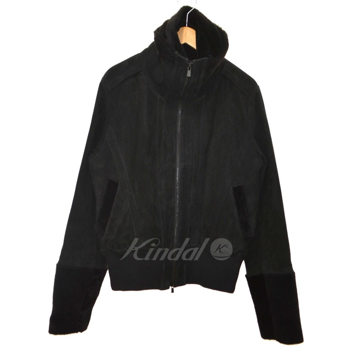 【中古】A.F homme ハイネックラムスウェードレザージャケット ブラック サイズ:3 【送料無料】 【281018】(A.F homme)