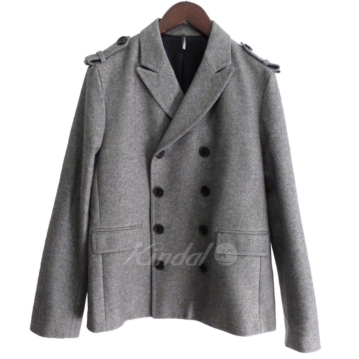 【中古】Dior Homme 08AW メルトンPコート グレー サイズ:44 【送料無料】 【281018】(ディオールオム)