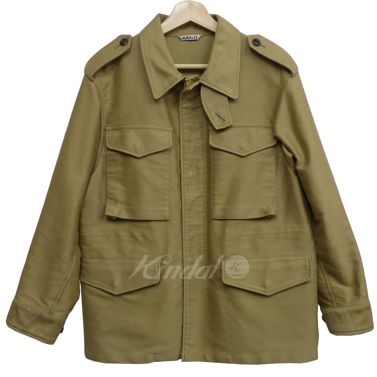 【中古】AURALEE 16AW WASHED DOUBLE CLOTH FIELD JACKETウェッシュドジャケット 【送料無料】 【001415】 【KIND1550】