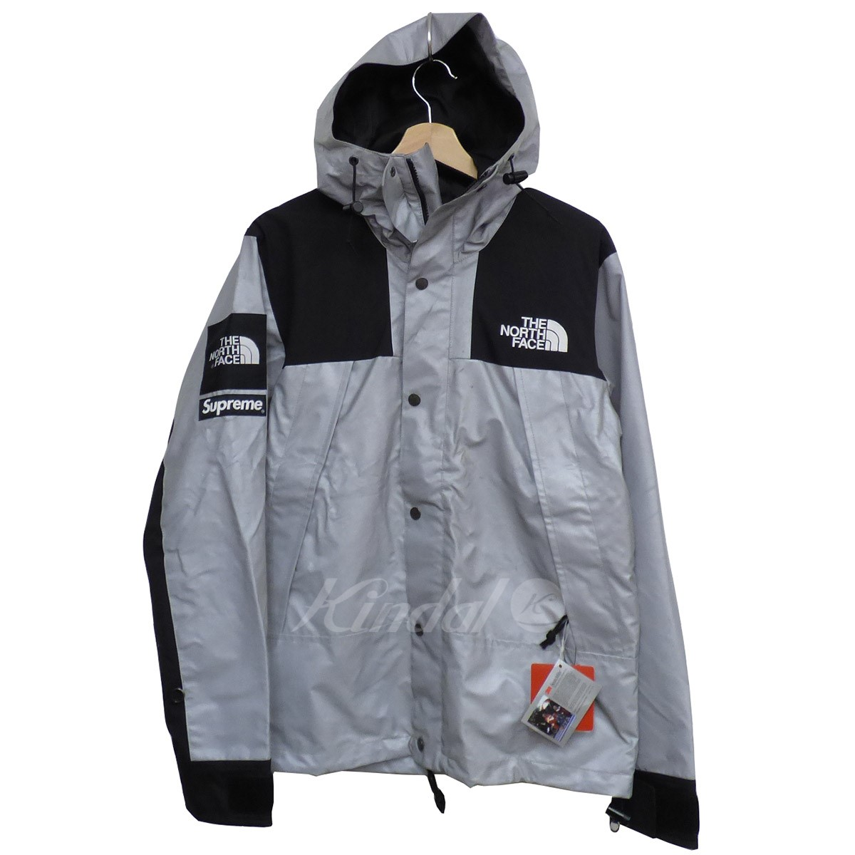 【中古】Supreme×THE NORTH FACE 13SS Reflective 3M Mountain Parkaリフレクターマウンテンパーカー 【送料無料】 【000549】 【KIND1550】