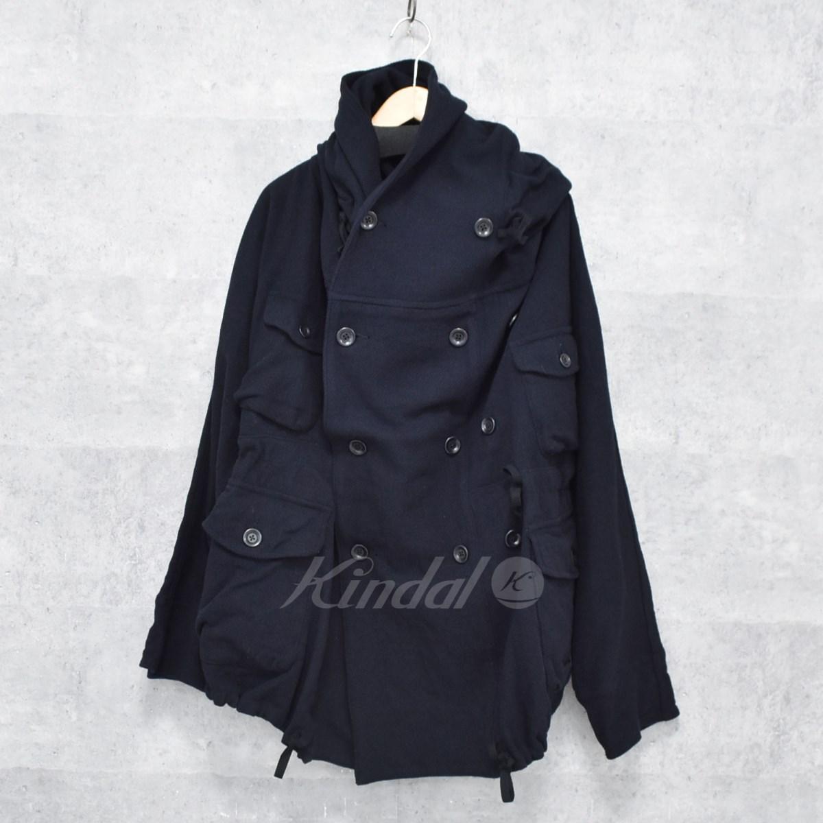 【中古】KAPITAL ヴィンテージメルトンリングコート ネイビー サイズ:M 【送料無料】 【311018】(キャピタル)
