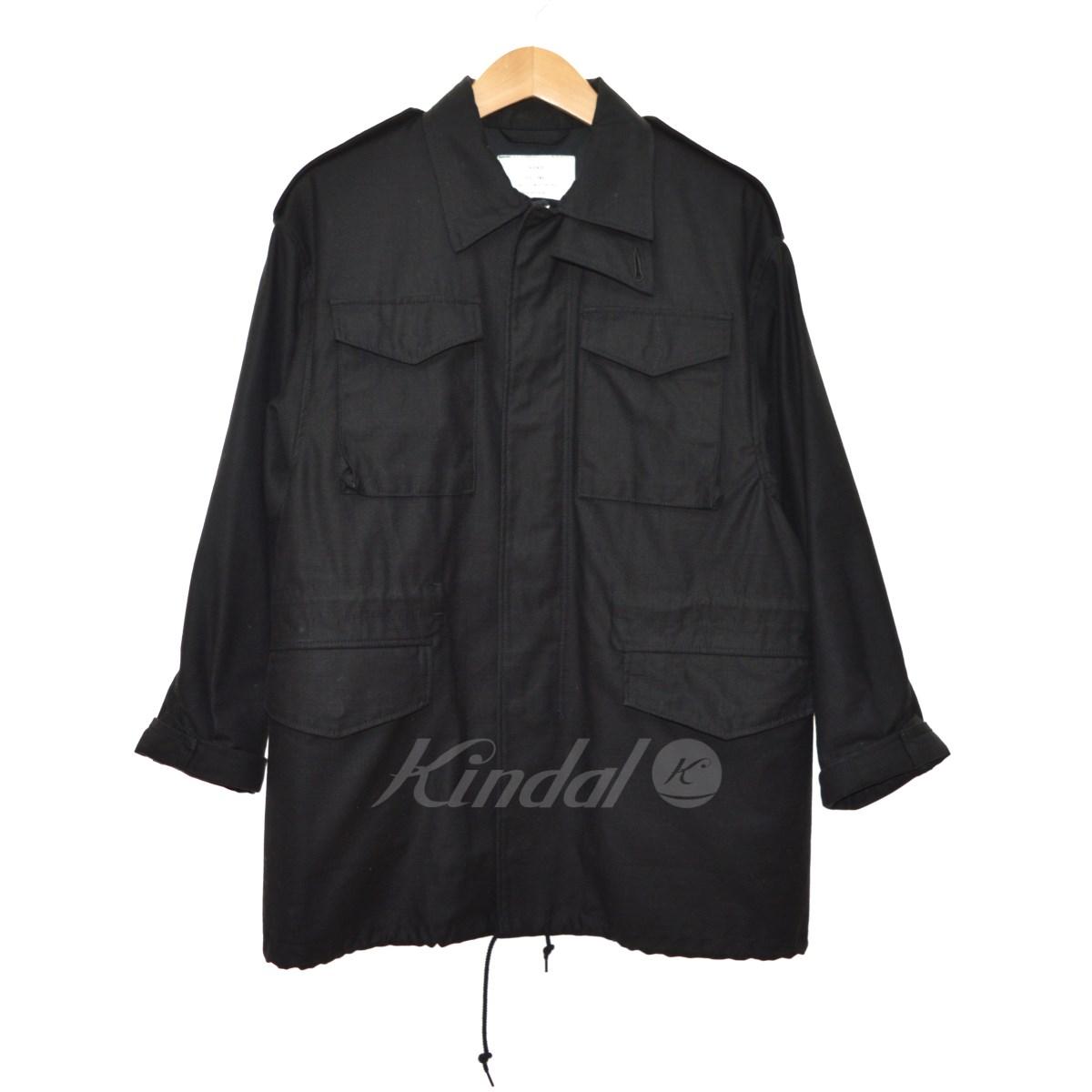 【中古】HYKE 15SS HYKE×the POOL aoyama/ミリタリージャケット ブラック サイズ:1 【送料無料】 【011118】(ハイク)