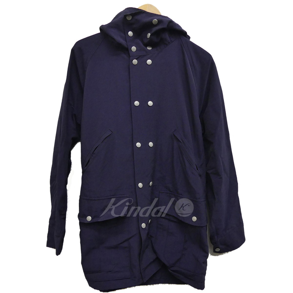 【中古】SASSAFRAS Blower Bud Coat フーデットジャケット ネイビー サイズ:S 【送料無料】 【011118】(ササフラス)