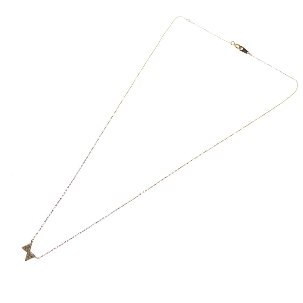 【中古】ete K18 リボンデザイントップ ネックレス ゴールド サイズ:- 【送料無料】 【011118】(エテ)