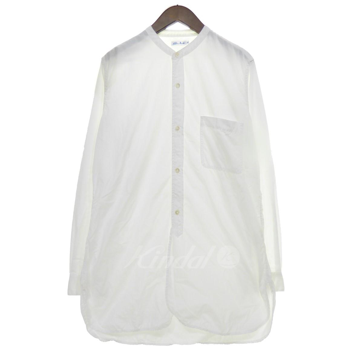 【中古】Sans limite 【2018A/W】 ビッグシルエットノーカラーシャツ/ブラウス ホワイト サイズ:2 【送料無料】 【011118】(サンリミット)