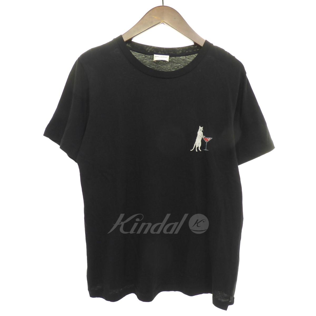 【中古】SAINT LAURENT PARIS CAT&COCKTAIL Tee 半袖Tシャツ 【送料無料】 【129163】 【KIND1641】