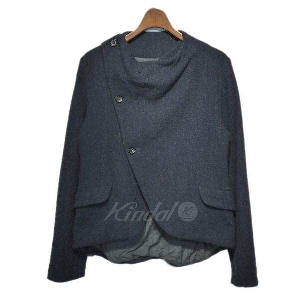 【中古】TOUJOURS 変形ウールジャケット ネイビー サイズ:1 【送料無料】 【011118】(トゥジュー)