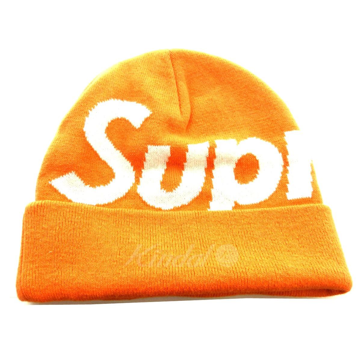 【中古】SUPREME 「Big Logo Beanie」ビッグロゴビーニーキャップ オレンジ 【送料無料】 【011118】(シュプリーム)