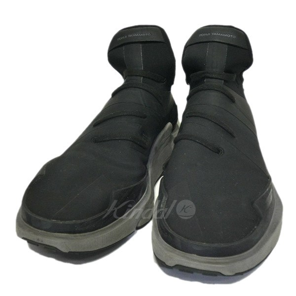 【中古】Y-3 「NOCI LOW」ハイカットスニーカー ブラック×グレー サイズ:10 1/2 【送料無料】 【011118】(ワイスリー)