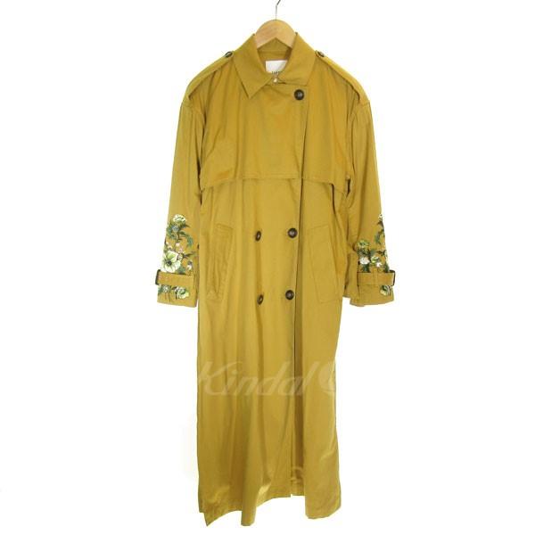 【中古】CLANE ENBROIDERY TRENCH COAT 袖刺繍デザイントレンチコート マスタード サイズ:0 【送料無料】 【011118】(クラネ)