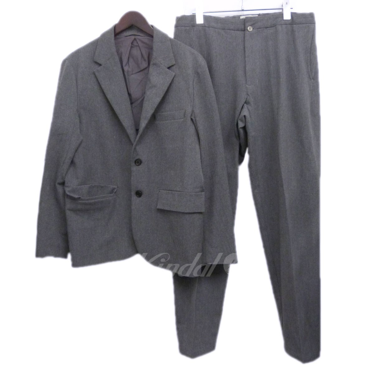 【中古】YAECA ERGONOMIC セットアップスーツ グレー サイズ:L/L 【送料無料】 【011118】(ヤエカ エルゴノミック)