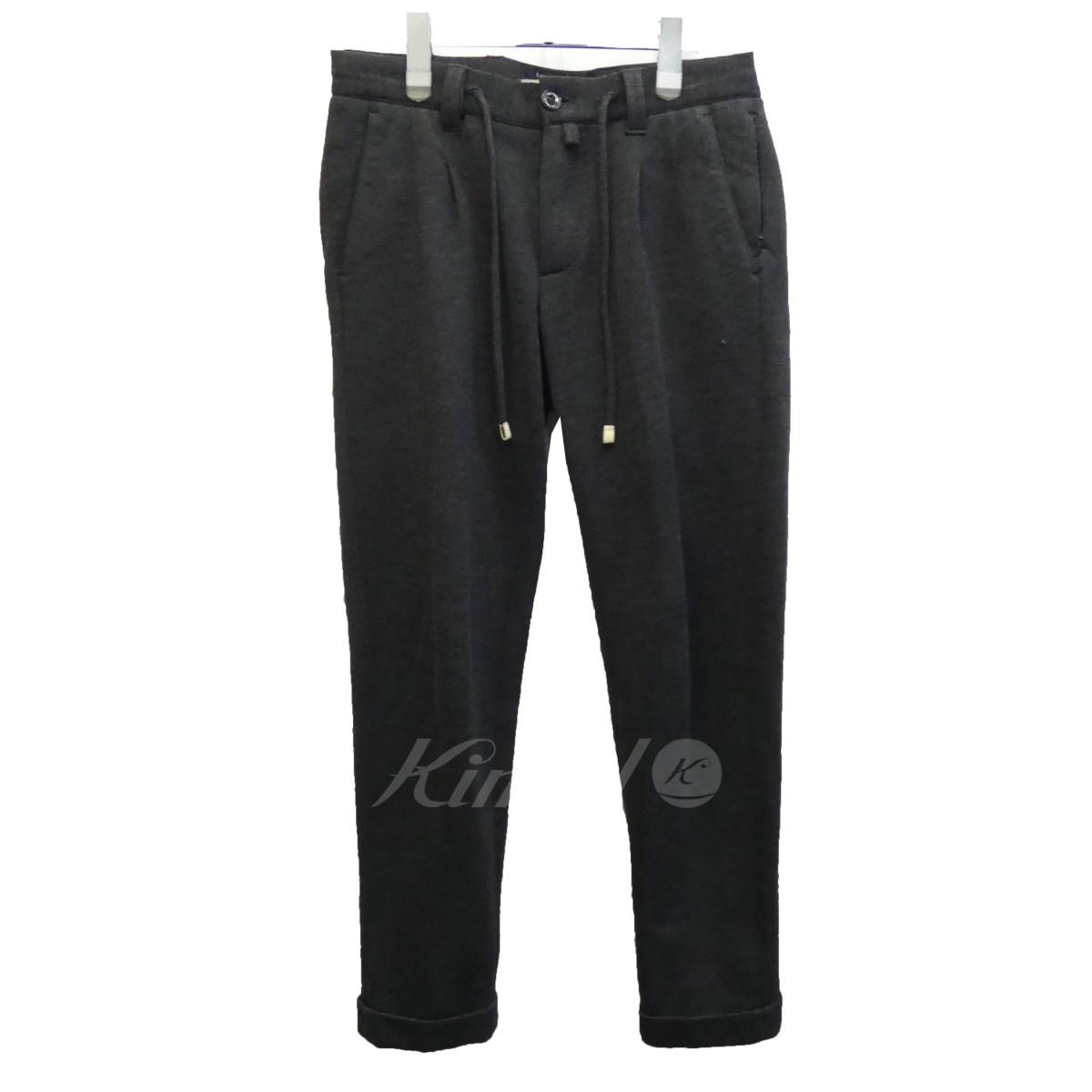 【中古】1piu1uguale3 ×Giad's「easy Italian trousera」スウェットジョガーパンツ グレー サイズ:3 【送料無料】 【011118】(ウノピゥウノ)