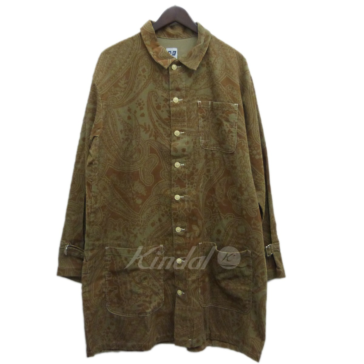 【中古】AiE(Arts in Education) 18SS「Strap Long Shirt-Printed Floral Corduroy」 ブラウン サイズ:M 【送料無料】 【021118】(エーアイイー)