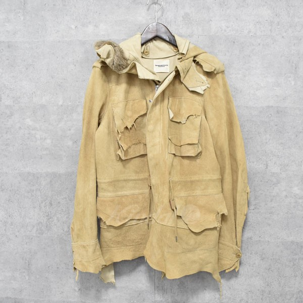 【中古】TAKAHIROMIYASHITA TheSoloIst. 14AW Rough Out Work Military Jacket  レザーミリタリージャケット 【送料無料】 【010536】 【KIND1550】