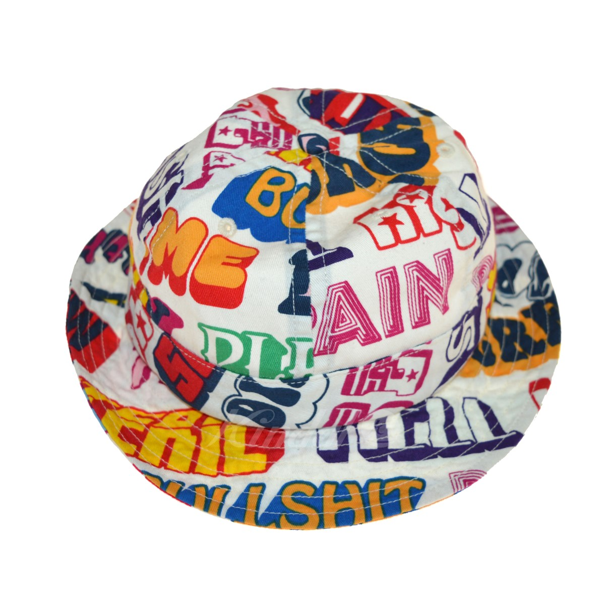 dcbb676ea1e supreme x HYSTERIC GLAMOUR 2017AW text bell hat whole pattern hat  multicolored (シュプリームヒステリックグラマー)