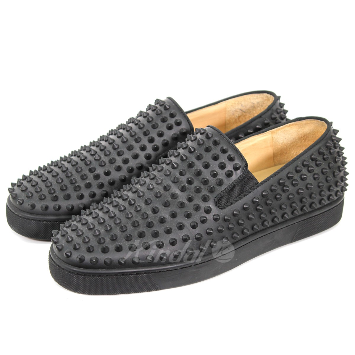 official photos 01b81 3c2b2 CHRISTIAN LOUBOUTIN roller boat studs slip-ons sneakers black size: 43  (クリスチャンルブタン)