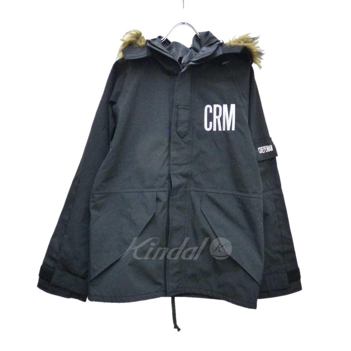 【中古】CREPEMAN ミリタリージャケット ブラック サイズ:M 【送料無料】 【031118】(クレープマン)
