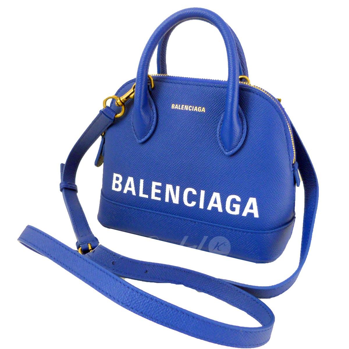 【中古】BALENCIAGA ビルトップハンドルバッグXXS ブルー 【送料無料】 【031118】(バレンシアガ)