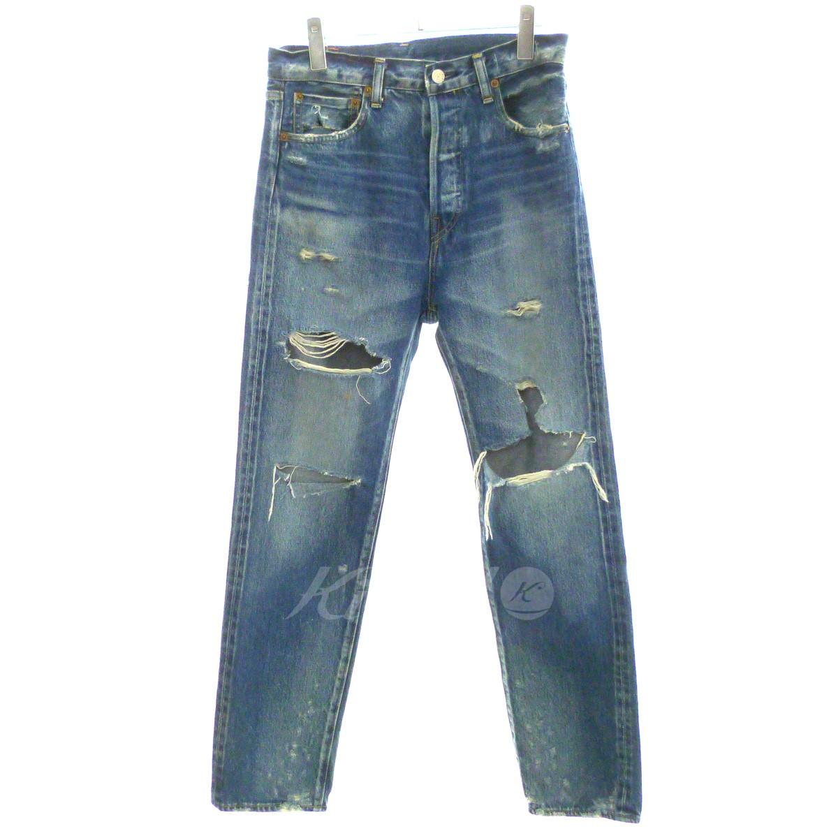 【中古】H BEAUTY&YOUTH 「DISTRESSED DENIM 5P PANTS」ダメージ加工デニムパンツ 【送料無料】 【147002】 【KIND1550】