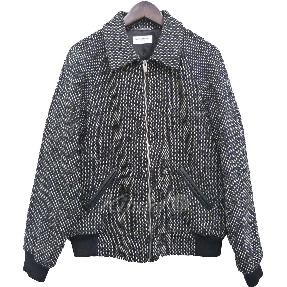 【中古】SAINT LAURENT PARIS 14AWツイードジャケット ブラック サイズ:50 【送料無料】 【031118】(サンローランパリ)