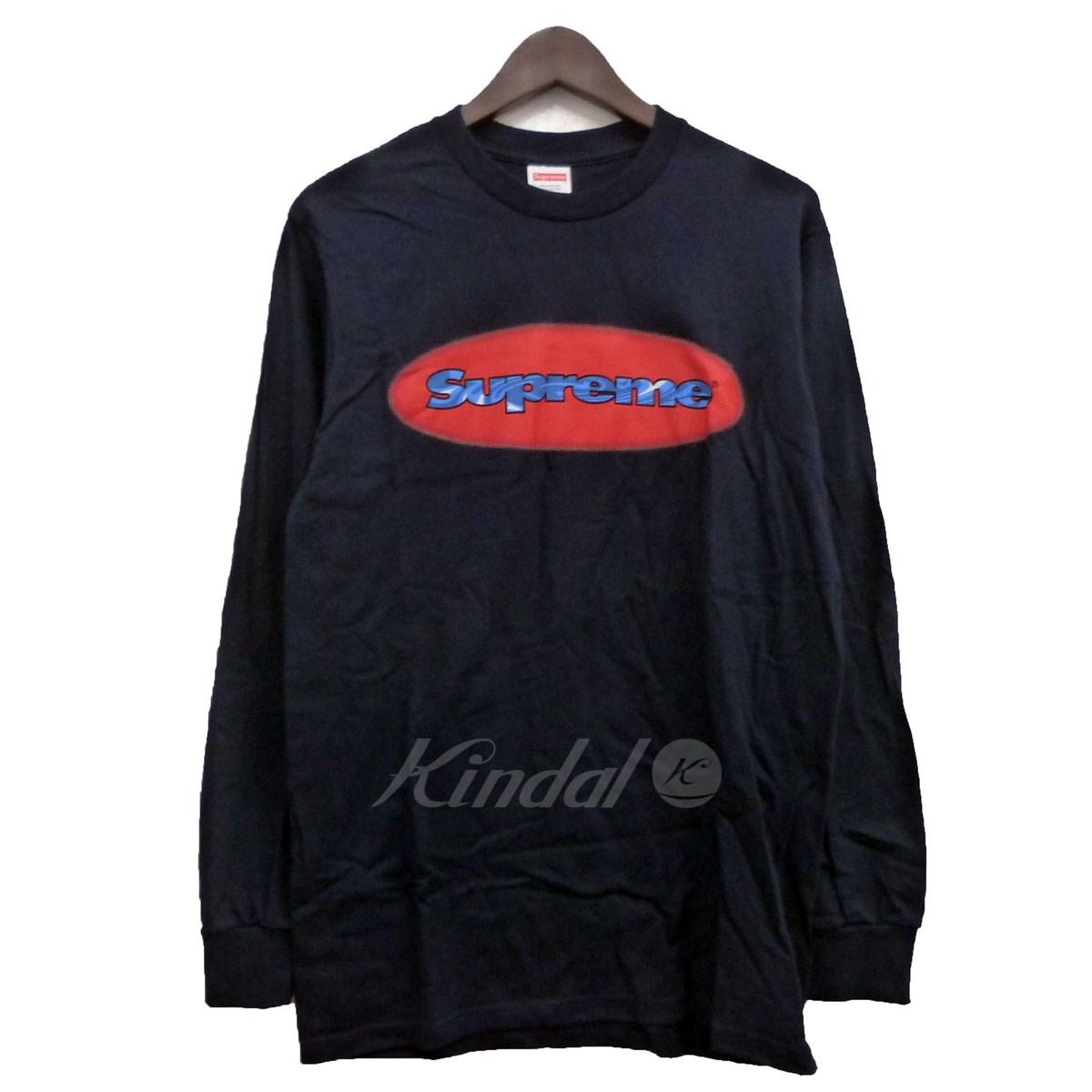 【中古】SUPREME 18SS「Ripple L/S Tee」リップルロゴカットソー ネイビー サイズ:S 【送料無料】 【031118】(シュプリーム)
