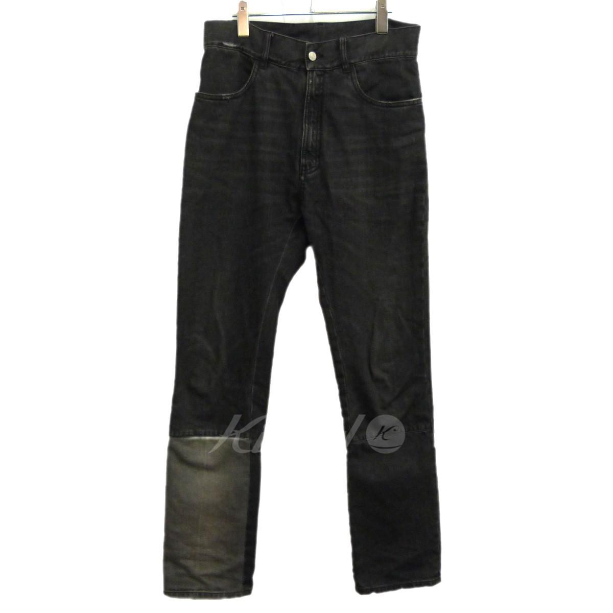 【中古】Martin Margiela 10 17SS裾切替デニムパンツ ブラック サイズ:32 【送料無料】 【031118】(マルタンマルジェラ10)