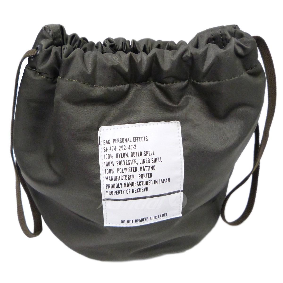 【中古】PORTER×NEXUS7 「PERSONAL EFFECTS BAG」タンカー巾着バッグ カーキ サイズ:- 【送料無料】 【031118】(ポーター×ネクサスセブン)