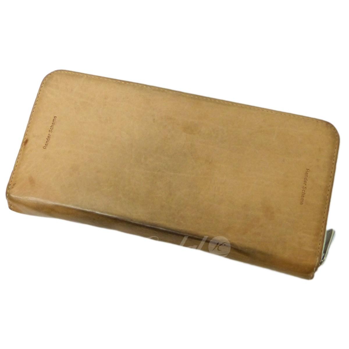 【中古】Hender Scheme「long zip purse」ラウンドジップ長財布 ナチュラル サイズ:-