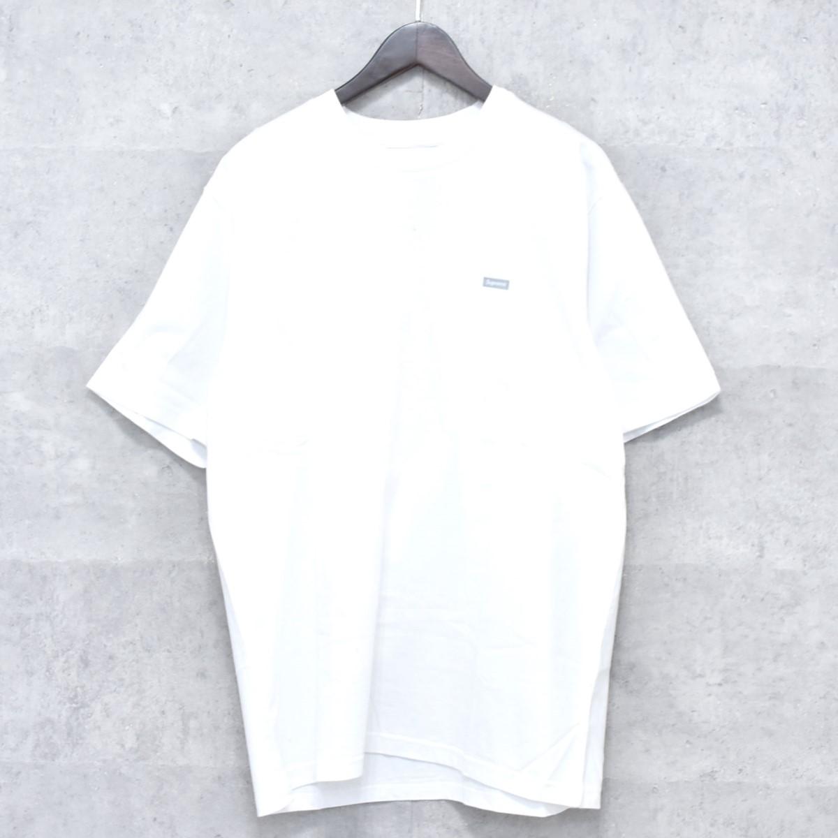 【中古】SUPREME 2018A/W Reflective Small Boxロゴ Tシャツ ホワイト サイズ:L 【送料無料】 【041118】(シュプリーム)